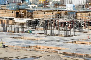 大規模建設現場 イメージ 基礎工事