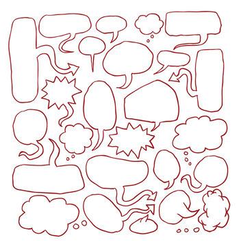 speech bubbles collection, vector illustration.