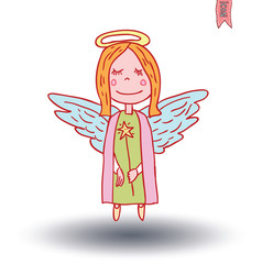 fairie. vector illustration.