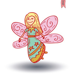fairie. vector illustration.