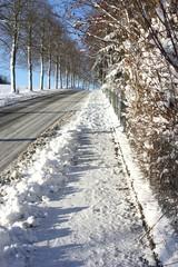 Gehweg im Winter