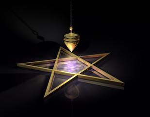 Pendel Pentagramm Gold