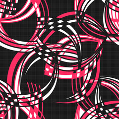 Seamless pattern abstract modern elements texture background