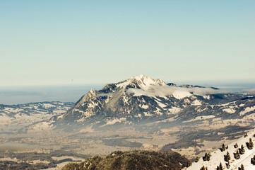 Fernsicht in Alpen