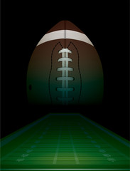 American Football Field and Ball Illustration