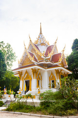 Detail of Buddhist temple in koh Samui, Thailand