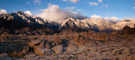 Alpine Sunrise Alabama Hills Sierra Nevada Range California