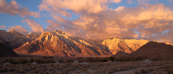 Golden Alpine Sunrise Alabama Hills Sierra Nevada Range