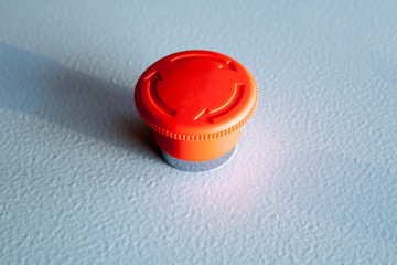 Red emergency stop switch reset industrial button