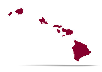 Map of the U.S. state of Hawaii