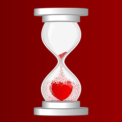 Valentine's Day hourglass