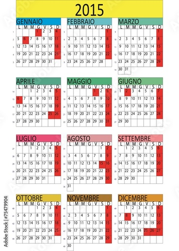 Calendario Business.Calendario Business Settimanale 2015 Stock Image And