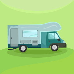 Illustration of a camper