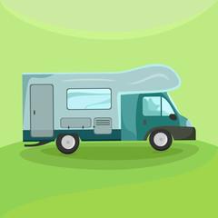 Illustration of a camper