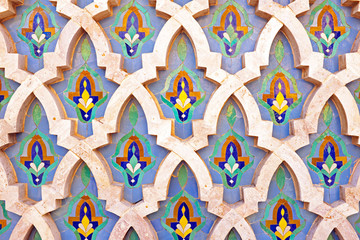 Tiled wall in Morocco