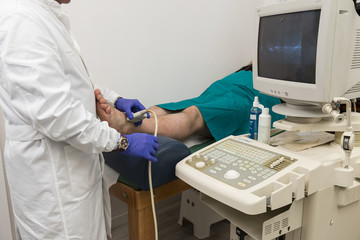 Echography in a clinic