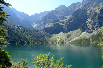 Fototapeta Mountain lake (Morskie Oko in Tatras) obraz