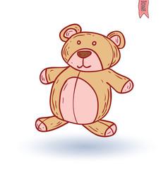 teddy bear. vector illustration.