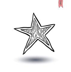 stars icon Isolated . Vector illustration.