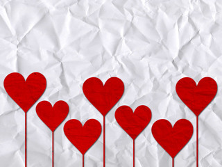 heart hearts love valentines day paper