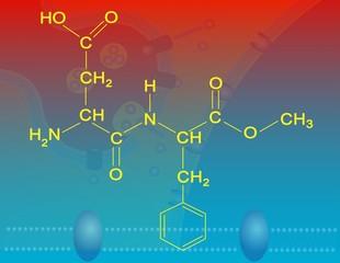 Aspartame molecular structure
