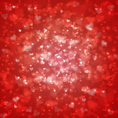 Blurry red heart background fantasy