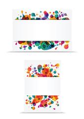 colorful banner header background