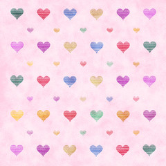 Colorful hearts mosaic background