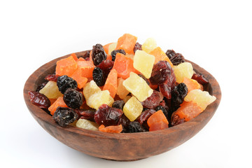 Bowl of dried fruit