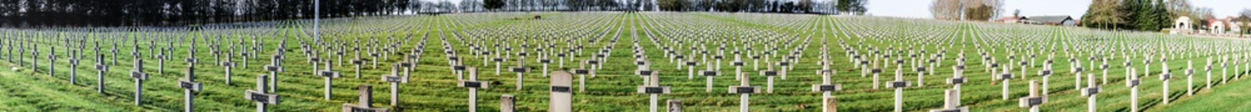 Panorama Cemetery world war one in France Vimy La Targette