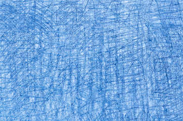 blue crayon drawings on white background texture