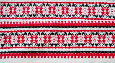 embroidered good by cross-stitch pattern. ukrainian ethnic ornam