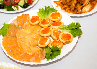 red caviar with red fish