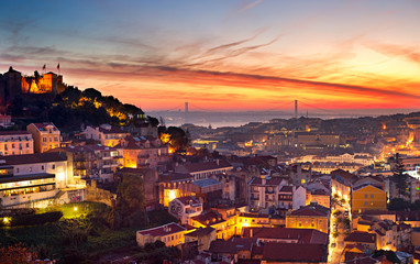 Wall Mural - Lisbon skyline
