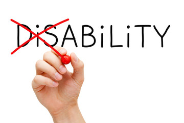 Ability Not Disability Concept