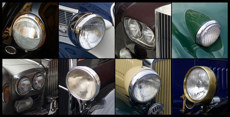 Oldtimer, headlights detail