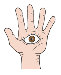 Fantasy eye in hand