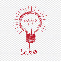 Light bulb icon Doodle hand drawn Illustration