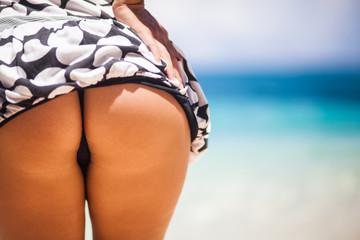 Buttocks on the beach
