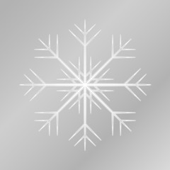 White isolated snowflake. Simple vector illustration