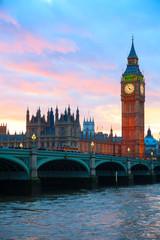 Photo sur Plexiglas Londres London. Big Ben clock tower.