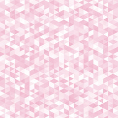Pink triangles, abstract geometric background