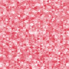 Geometric disorder of the red triangles pattern