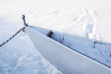Boat in snow