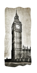 Big Ben im Vintage Look