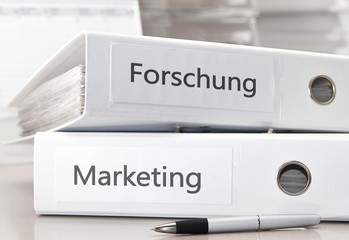 Forschung - Marketing / Büroordner