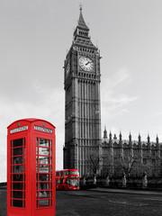 Big Ben mit Telefon und Bus