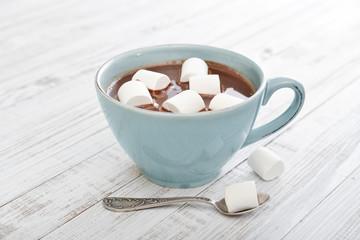 Poster Chocolate Hot chocolate and marshmallows