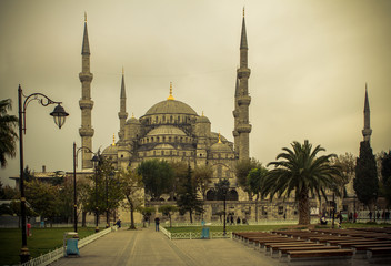 View of the Blue Mosque (Sultanahmet Camii) in Istanbul