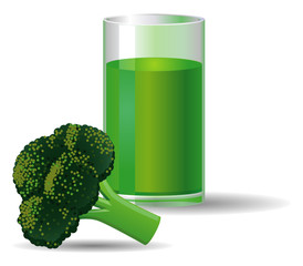 Broccoli vegetable juice
